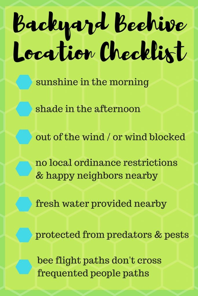 backyard beehive location checklist